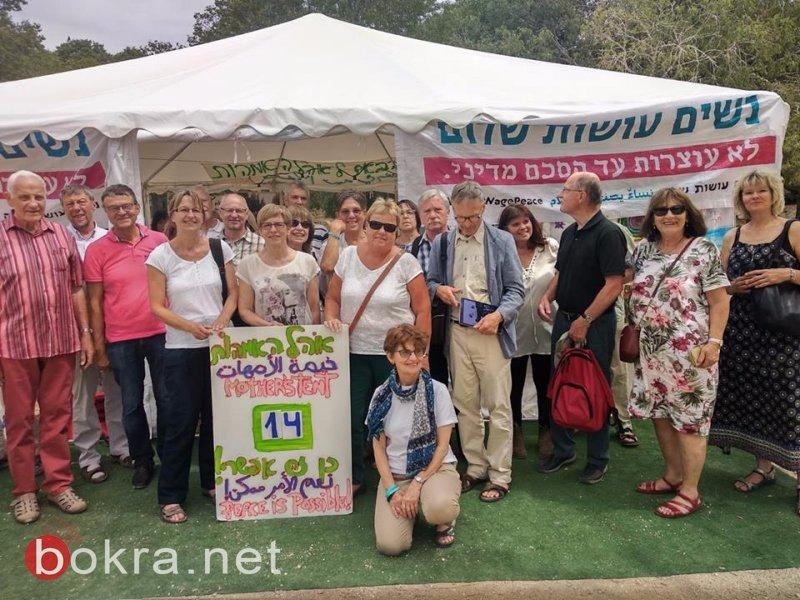 """""""نساء يصنعن السلام"""" تنظم مسيرة امام الكنيست وتدعو للتوصل الى اتفاق سياسي-29"""