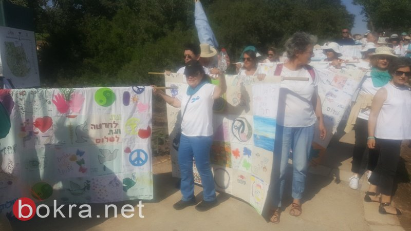 """""""نساء يصنعن السلام"""" تنظم مسيرة امام الكنيست وتدعو للتوصل الى اتفاق سياسي-32"""
