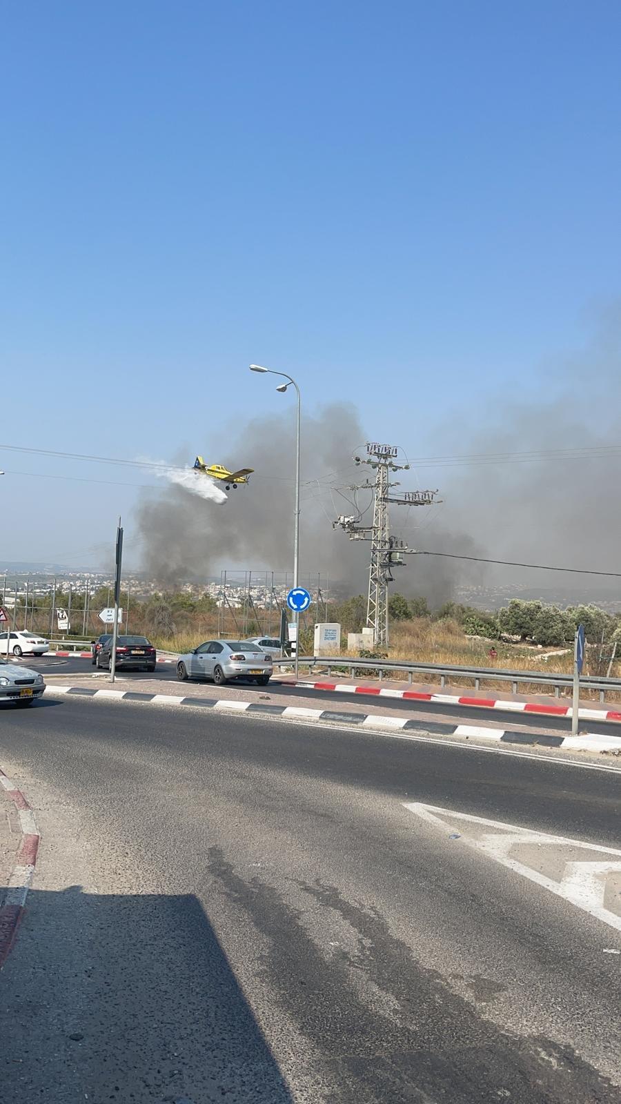 جت: محاولات السيطرة على حريق كبير، مستمرة-0