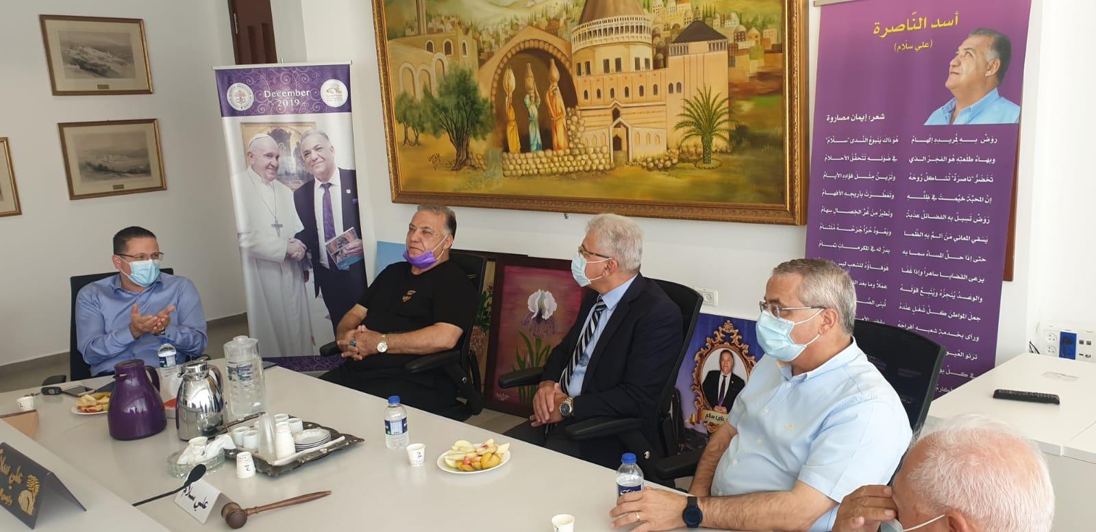 انطلاق مشروع المدارس الآمنة من الكورونا في الناصرة-0