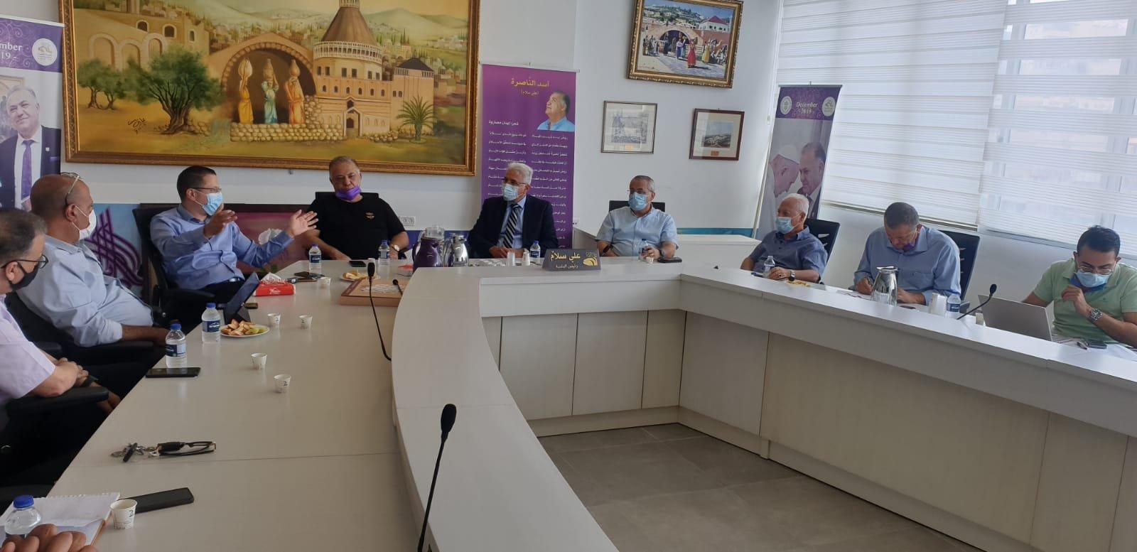 انطلاق مشروع المدارس الآمنة من الكورونا في الناصرة-1