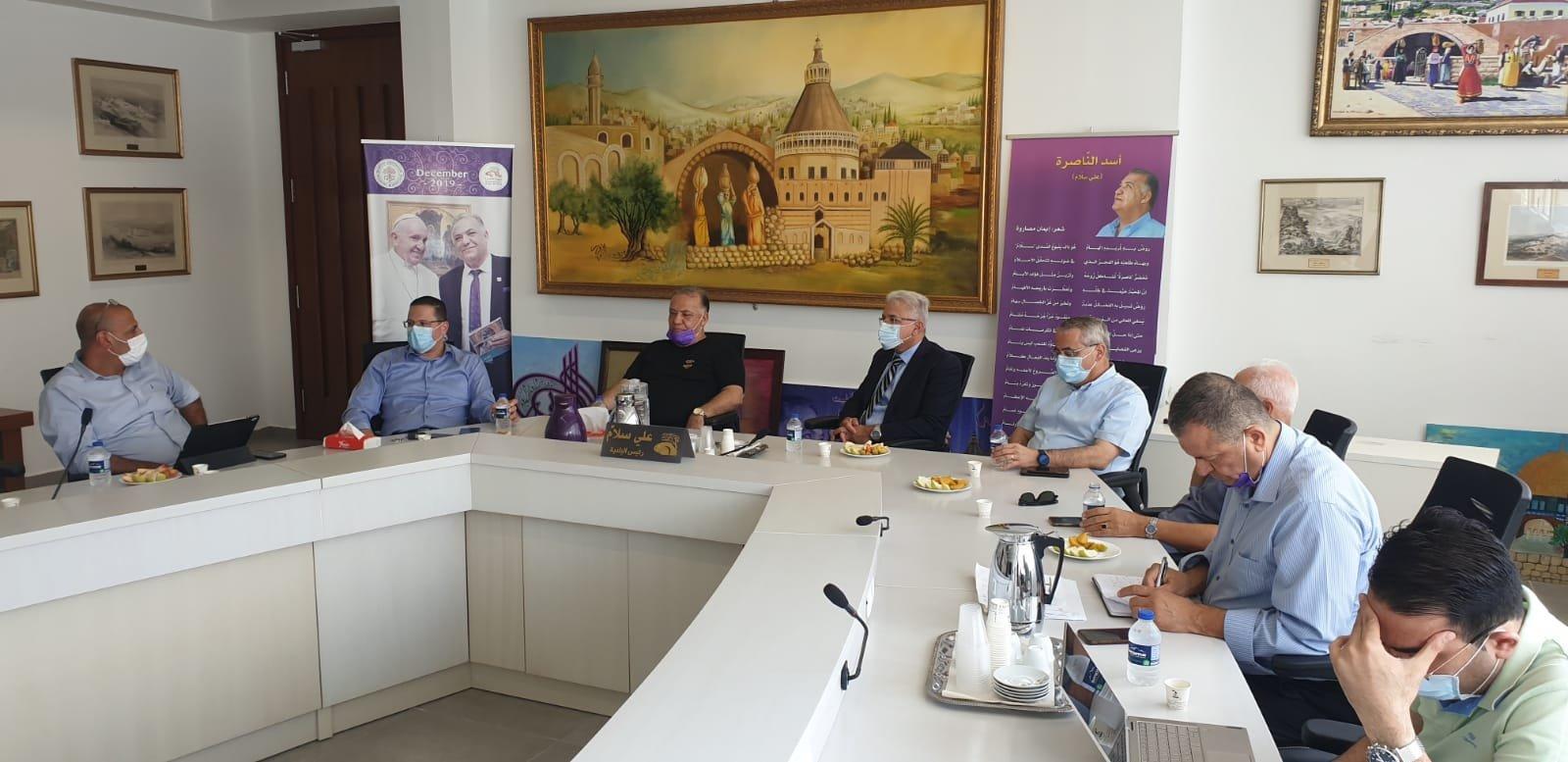 انطلاق مشروع المدارس الآمنة من الكورونا في الناصرة-8