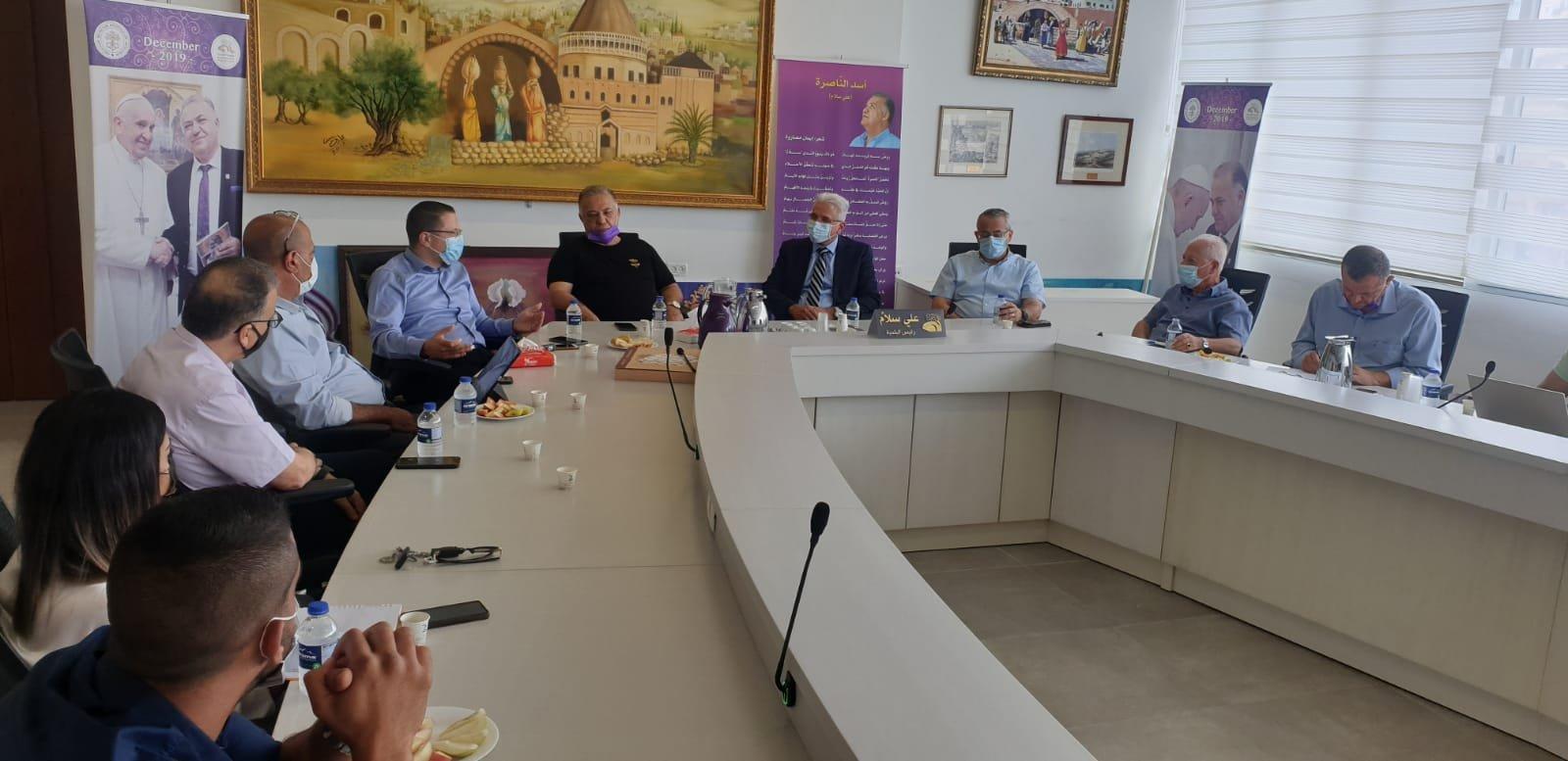 انطلاق مشروع المدارس الآمنة من الكورونا في الناصرة-9