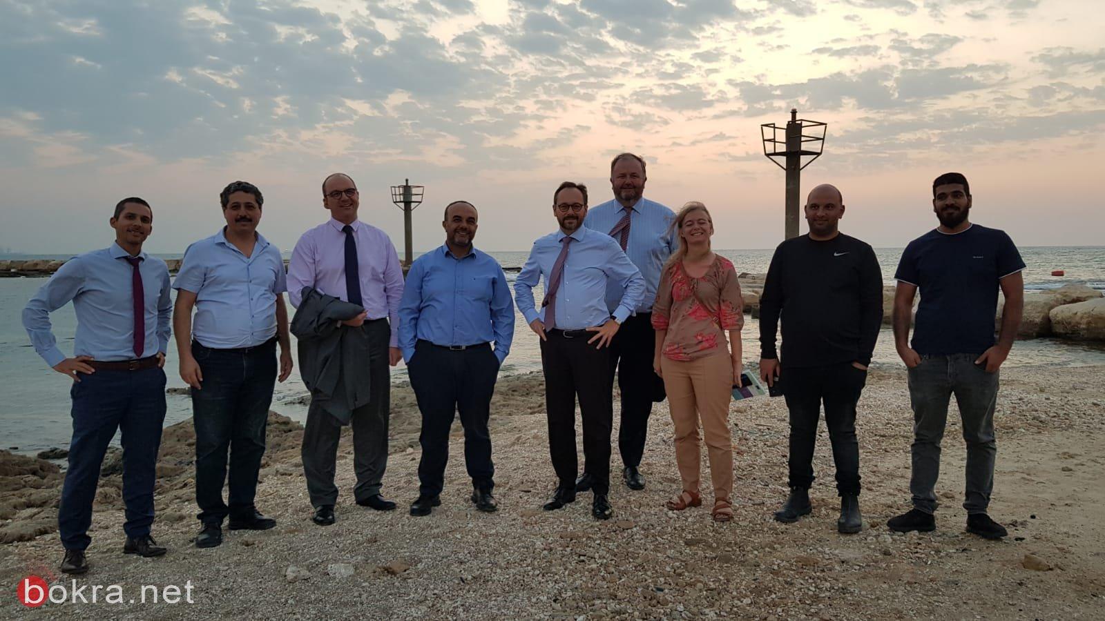 زيارة ميدانية لوفد أوروبي رفيع المستوى لقرية جسر الزرقاء
