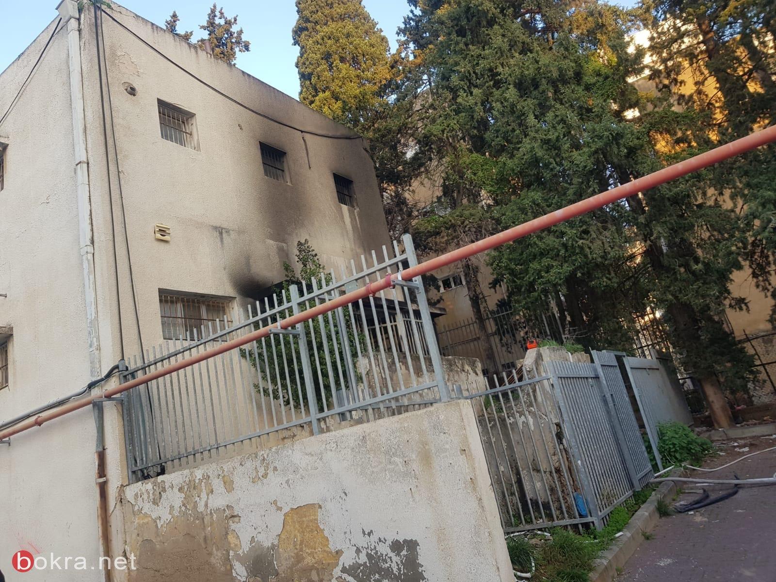 حيفا: اندلاع حريق في مبنى سكني  -0