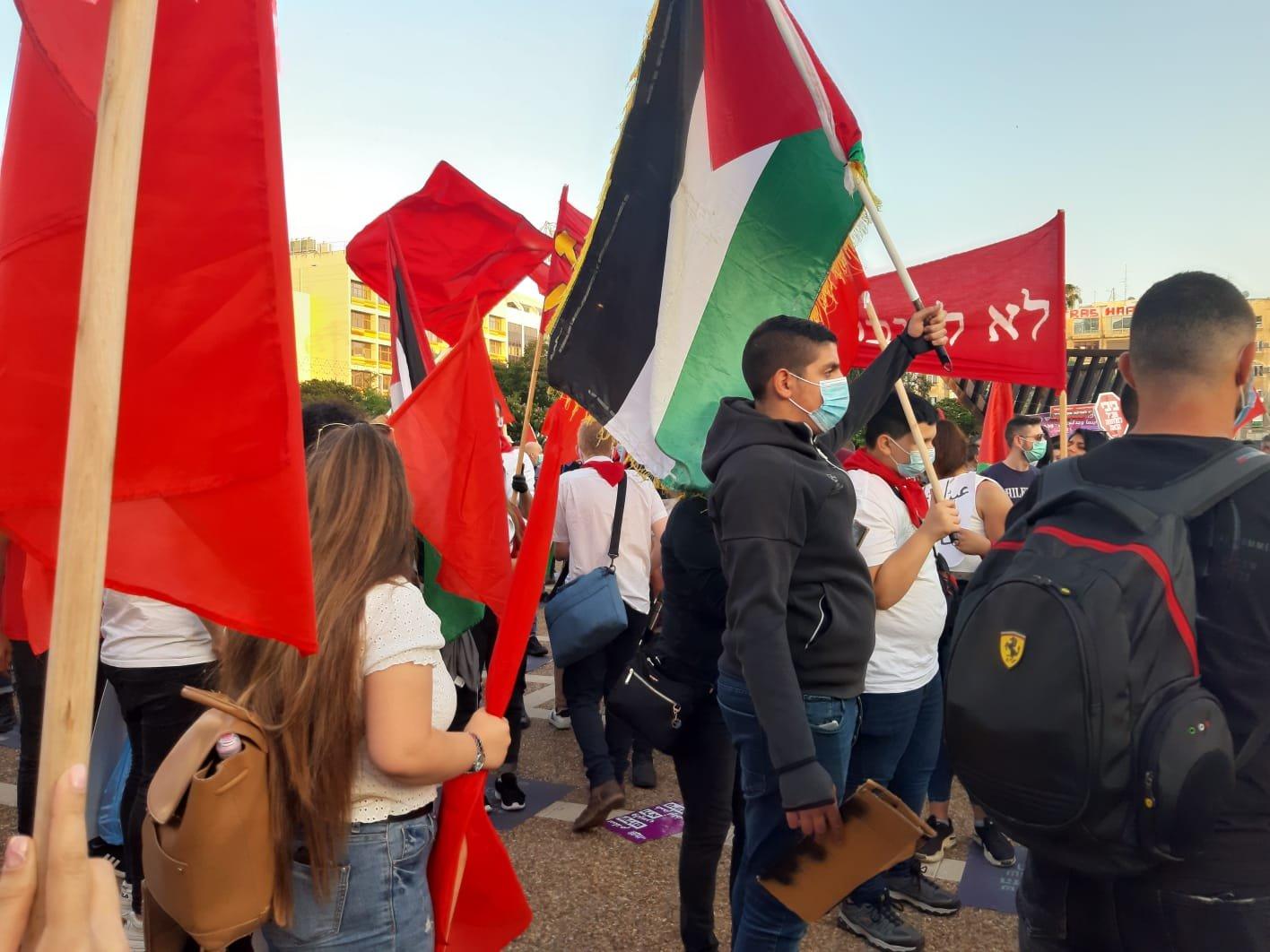 مشاركو تظاهرة تل ابيب: نرفض الضم، والحل سلام عادل