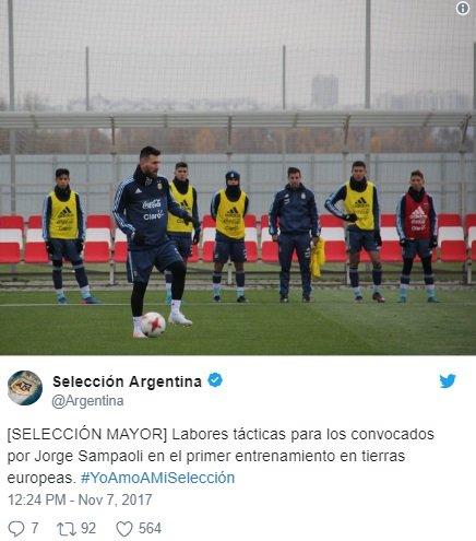ميسي يشارك في تدريبات الأرجنتين في موسكو-0