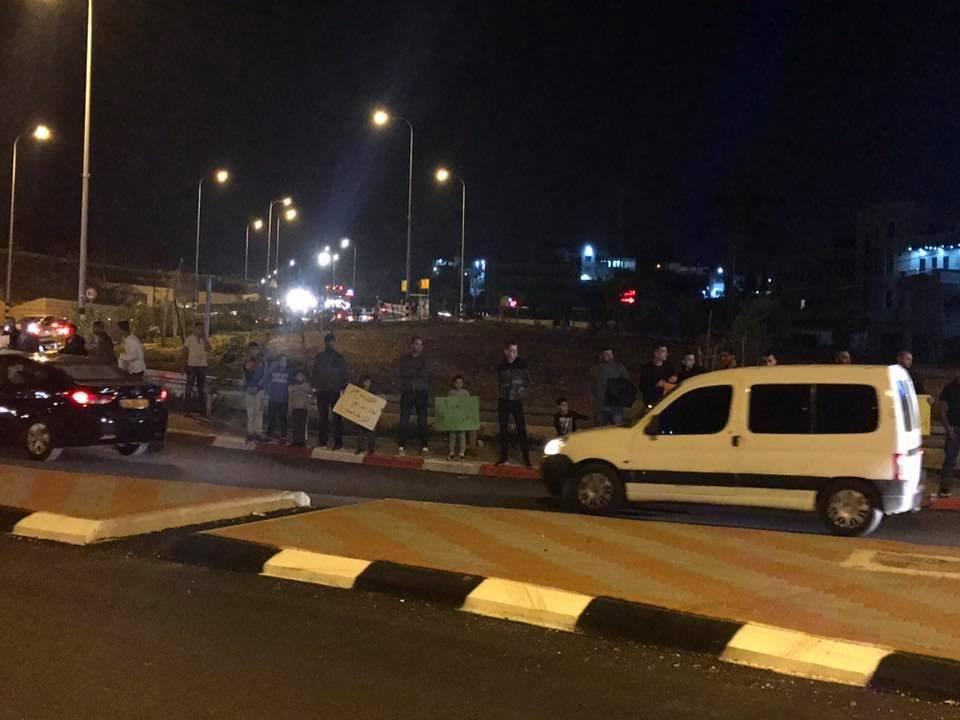 وقفة احتجاجية في المشهد على اثر قرار الائتلاف بين مرشحي الرئاسة