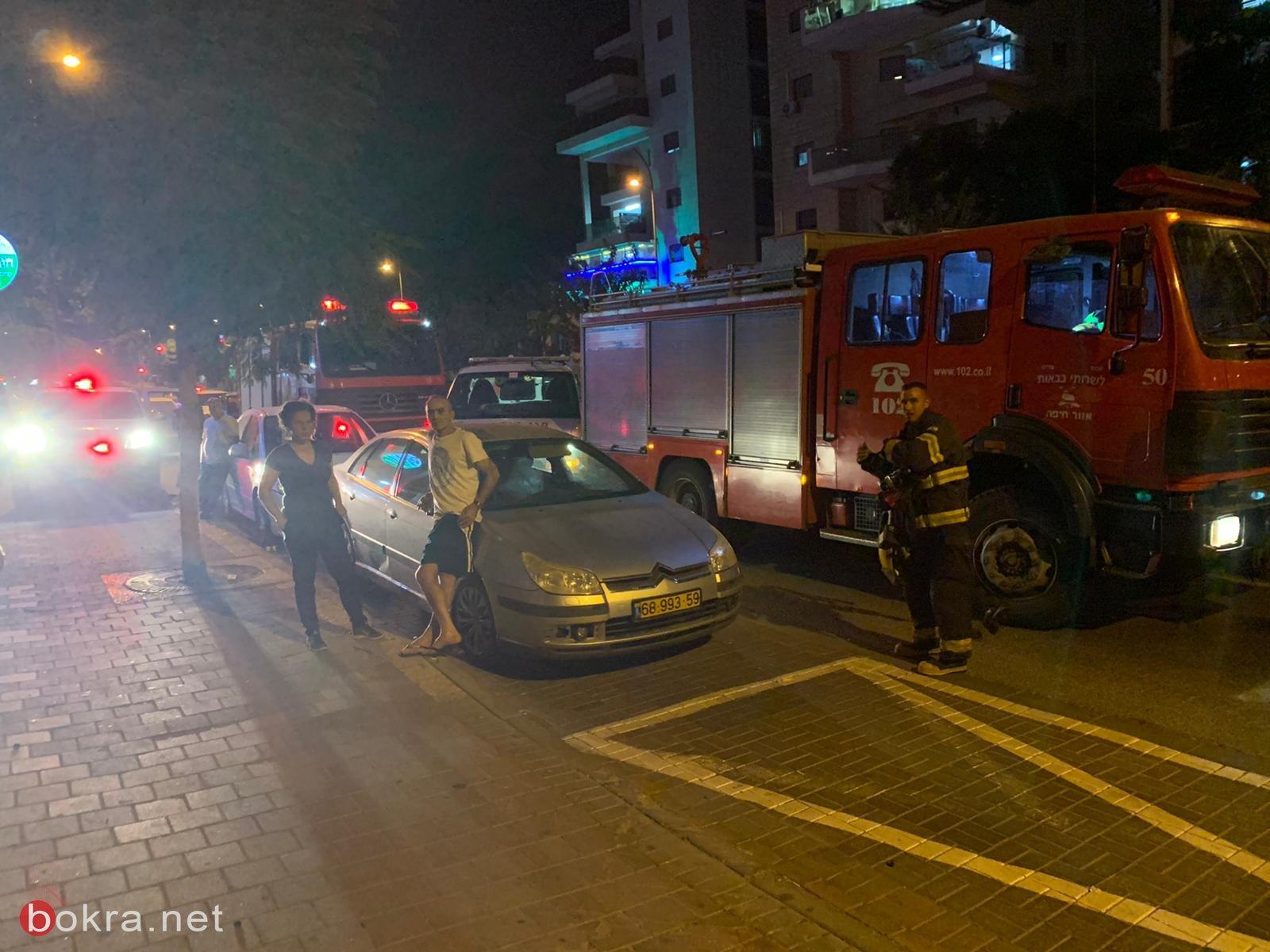 اصابة طفلة في حريق بمبنى سكني في كريات اتا