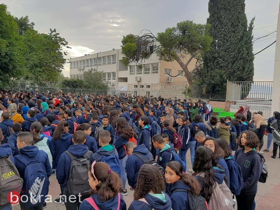 الحزن والغضب سيّدا الظهور في الوِقفة الإحتجاجية الصباحيّة في مدرسة الرّازي الإعدادية اكسال