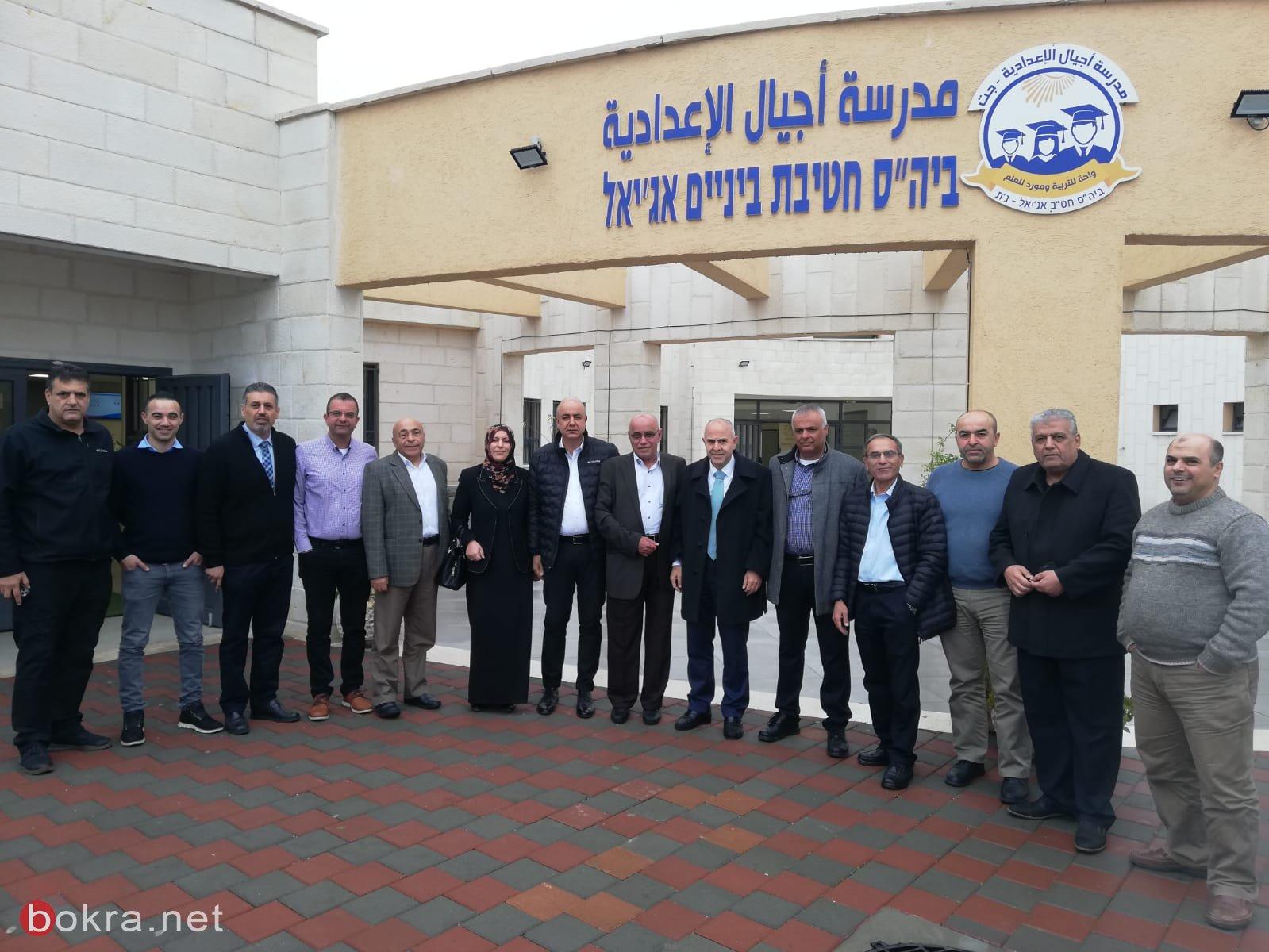 زيارة المدير العام للوزارة شموئيل أبواب لبلدات جث،بستان المرج ونحف -0