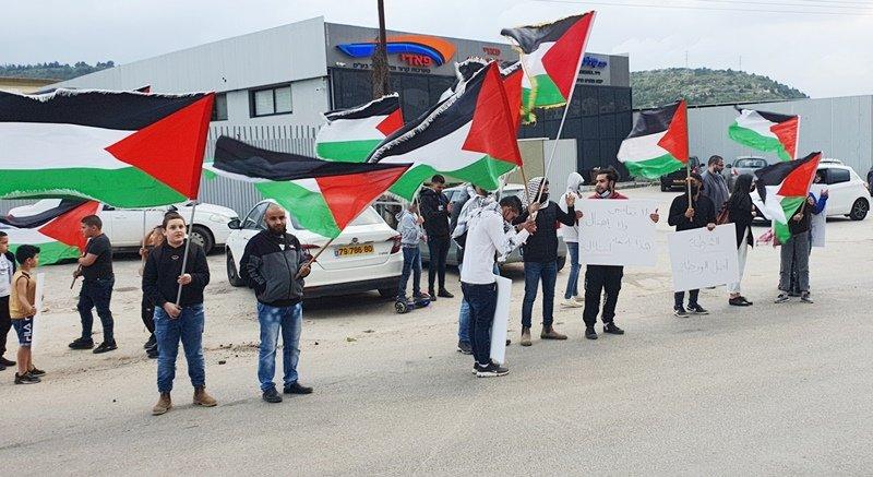 مجد الكروم: 4 اعتقالات في مظاهرة ضد تقاعس الشرطة-2