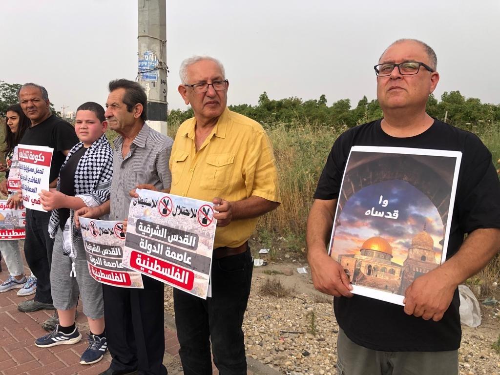 """""""حراك المثلث من أجل القدس"""" ينظم تظاهرة تضامنيّة مع القدس-14"""