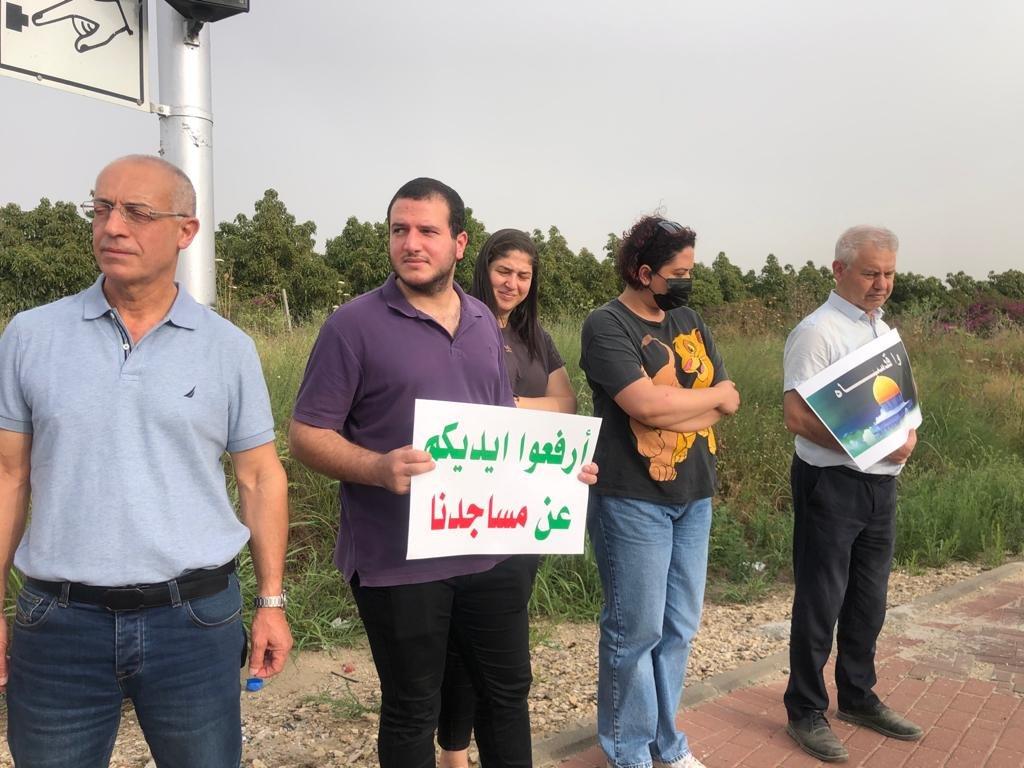 """""""حراك المثلث من أجل القدس"""" ينظم تظاهرة تضامنيّة مع القدس-16"""