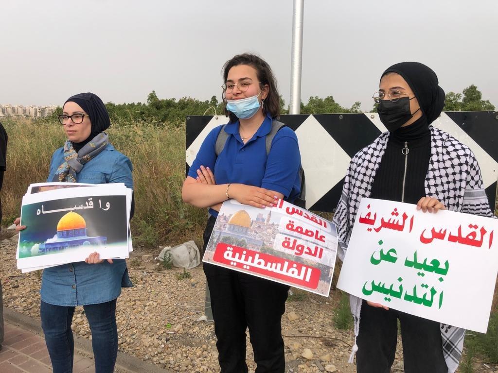 """""""حراك المثلث من أجل القدس"""" ينظم تظاهرة تضامنيّة مع القدس-18"""