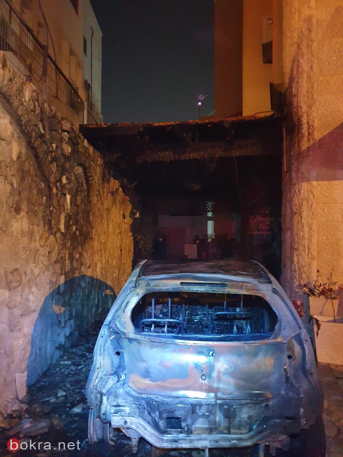 الطيبة: اندلاع حريق في سيارة