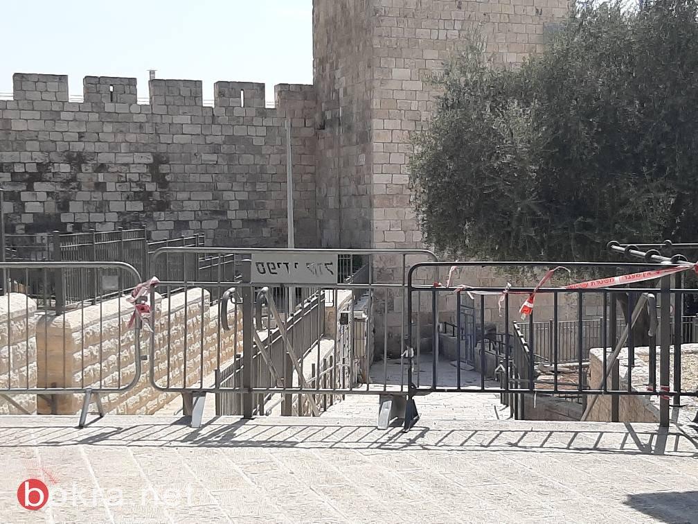 قيود مشددة على المقدسيين ومنع دخول البلدة القديمة لغير سكانها منذ 4 اسابيع