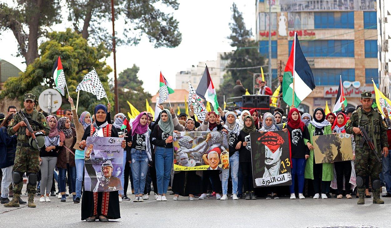 إحياء الذكرى الـ13 لاستشهاد ياسر عرفات بفعاليات ومسيرات في الضفة-14