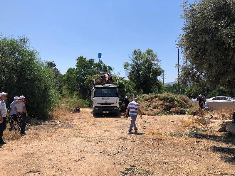 العشرات من أهالي حيفا وام الفحم يشاركون بترميم مقبرة القسام في حيف-5