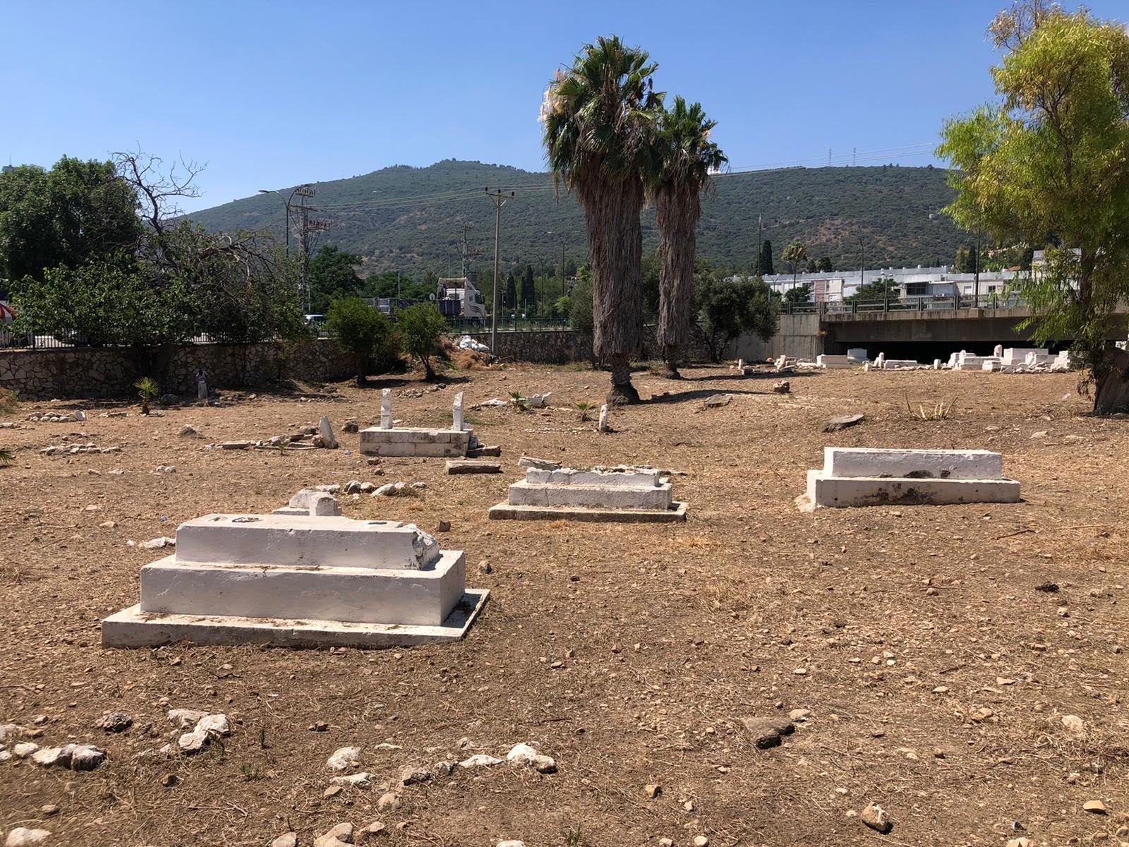 العشرات من أهالي مدينة حيفا وام الفحم يشاركون بترميم مقبرة القسام في حيفا-6