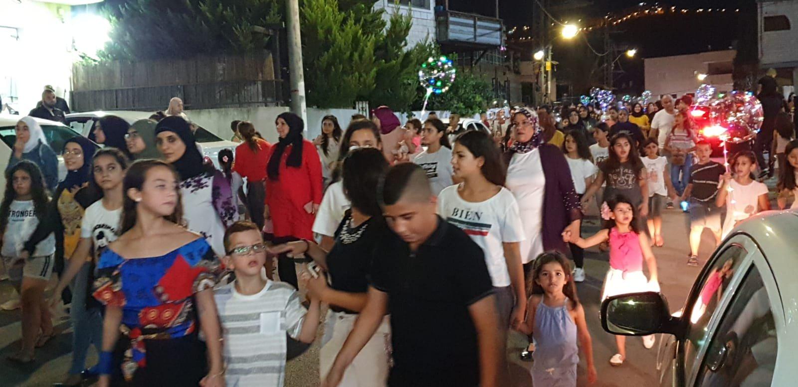 كفركنا تستقبل عيد الأضحى بمسيرة حاشدة