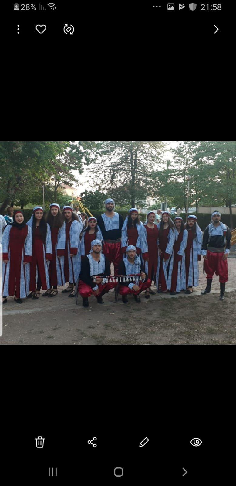 فرقة المجد للدبكة والفنون الشعبية النصراوية تتألق في بلغاريا