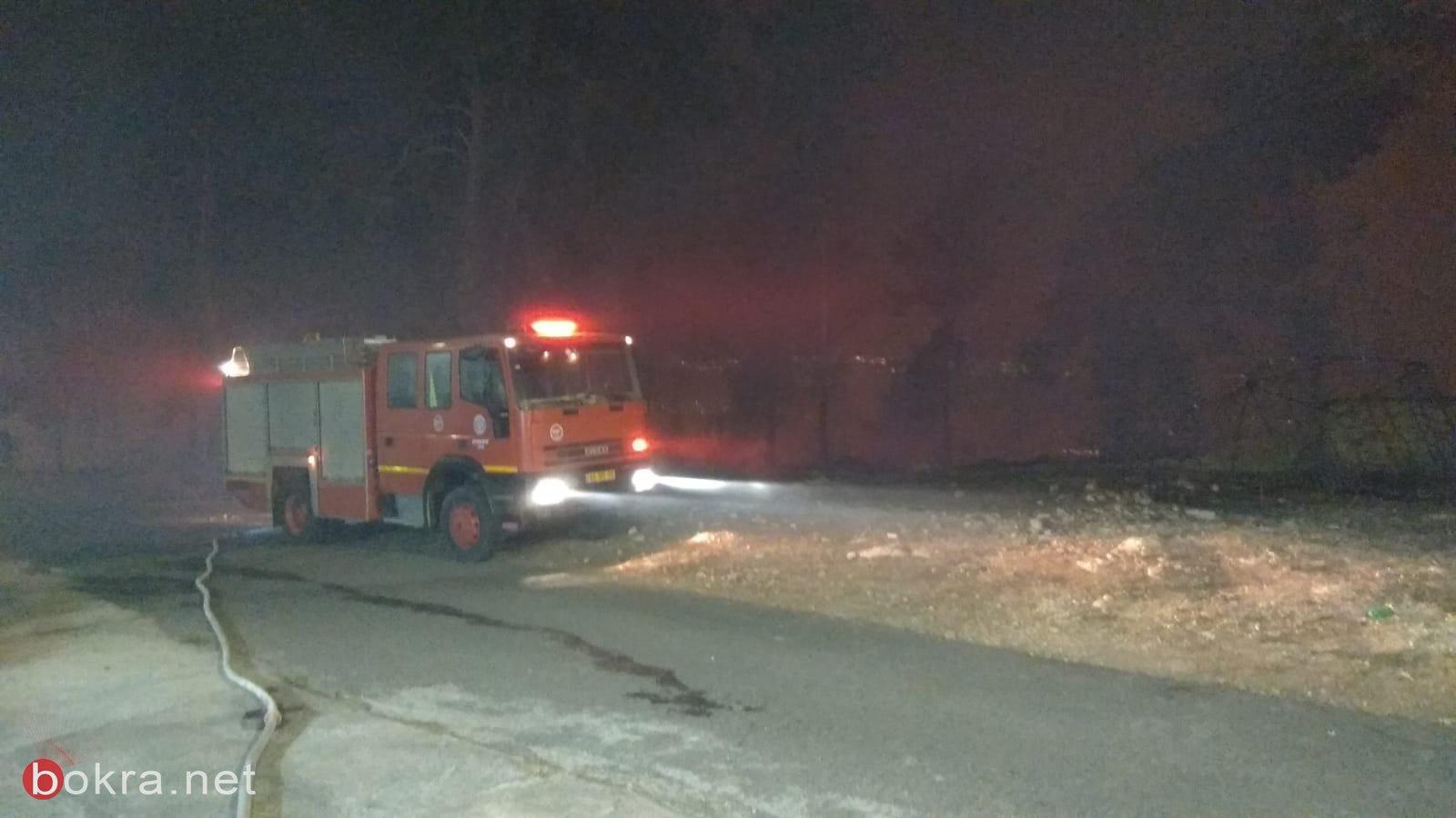 حريق هائل في الأحراش المجاورة للدحي واخلاء منازل-2