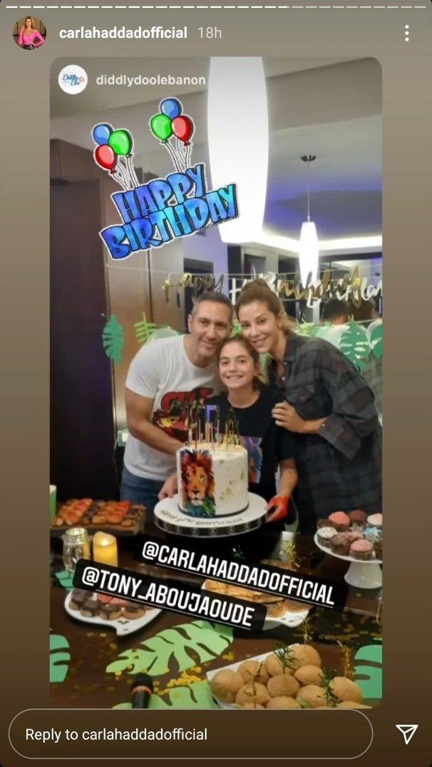 كارلا حداد تجتمع بطليقها طوني أبو جودة.. هكذا احتفلا بعيد ابنتهما (صورة)