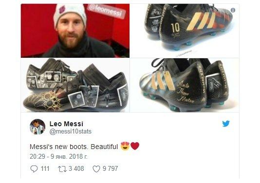 ميسي يستعرض صورا ملفتة على حذائه الجديد!