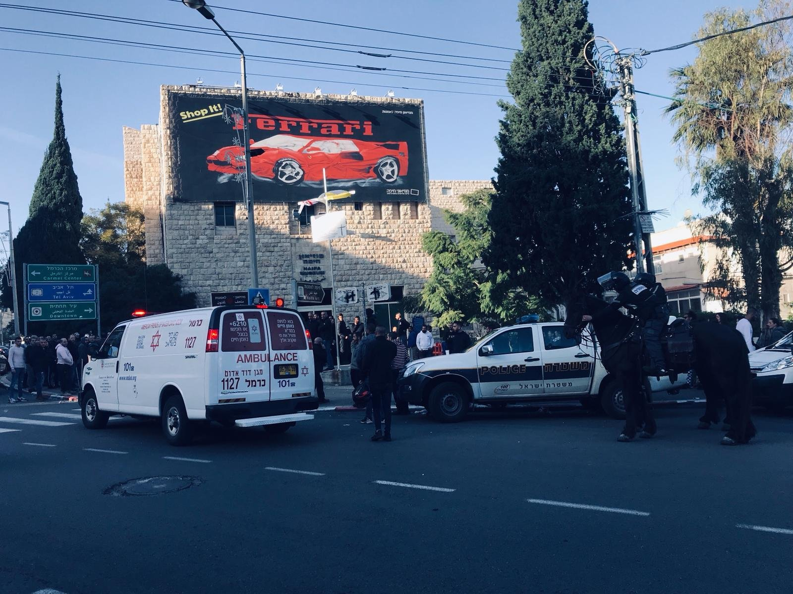 حيفا: اعتقالات في مظاهرة ضد المعرض المسيء للمسيح