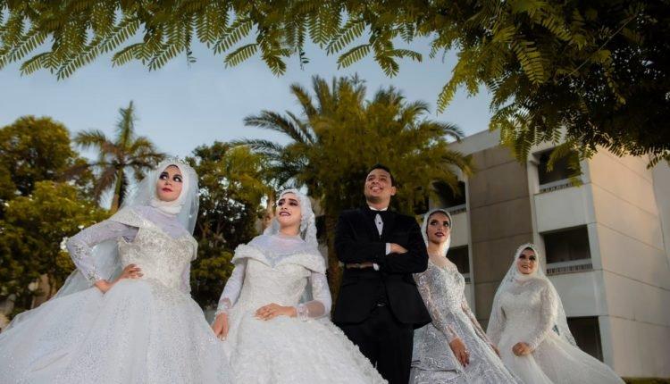 مصري يفاجئ والدته بالزفاف على 4 فتيات 671526374