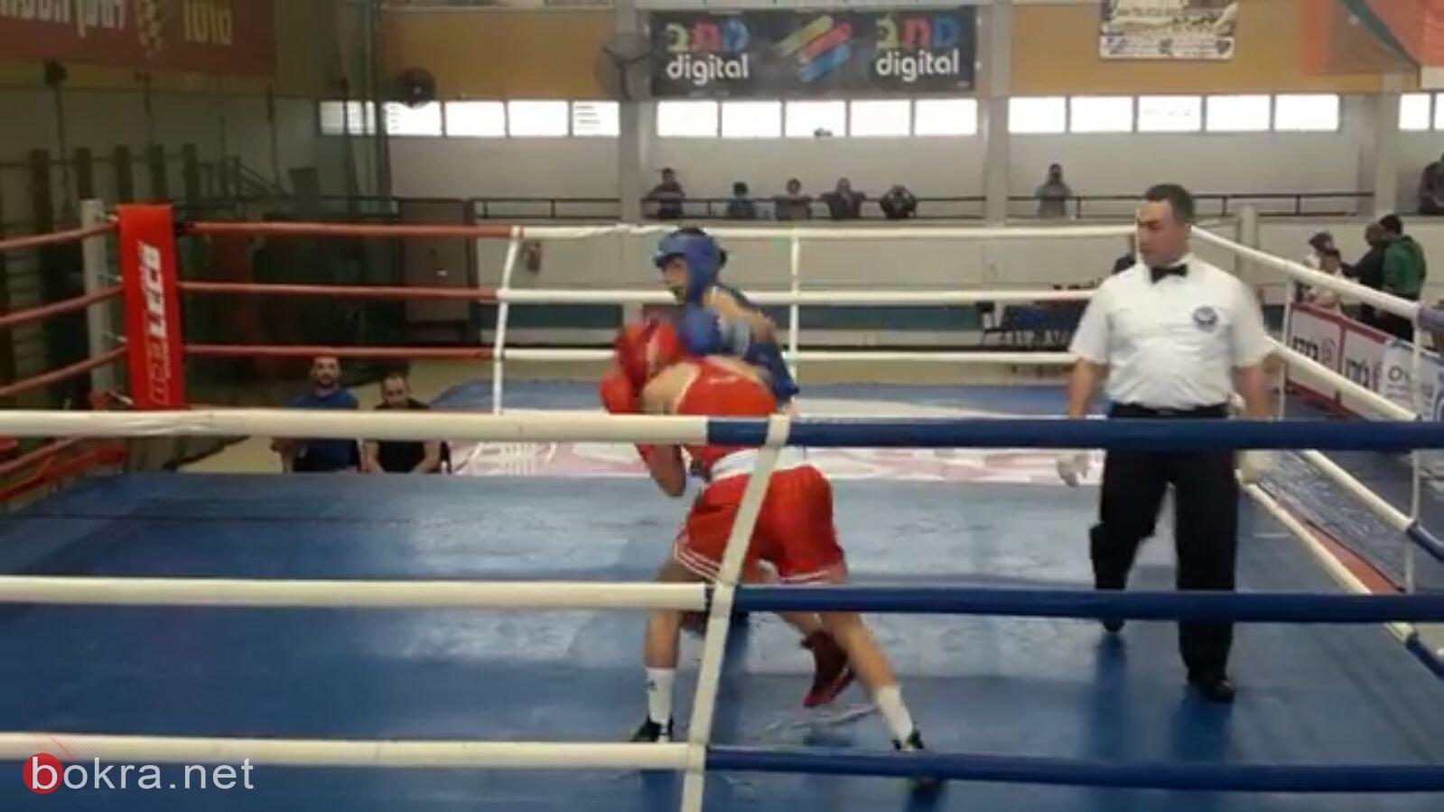 اللد: للمرة الرابعة صافي شعبان يفوز ببطولة البلاد في الملاكمة