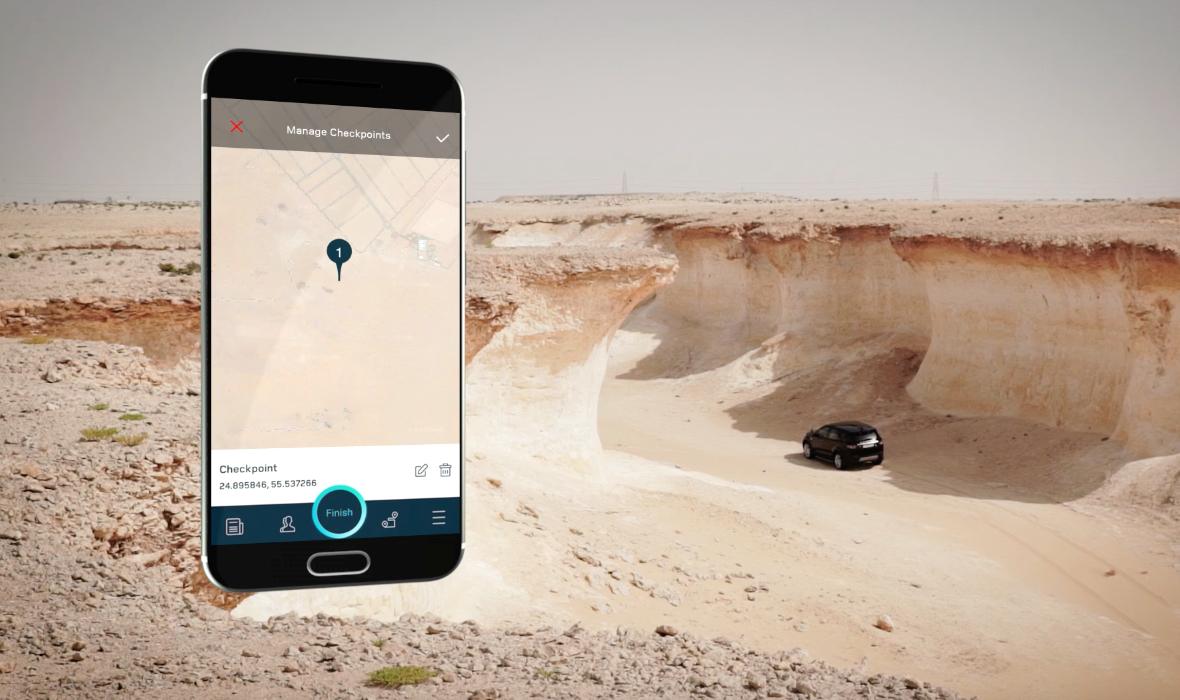 لاند روڤر تطلق النسخة الجديدة من تطبيق الأجهزة المحمولة أرضي للقيادة على الطرق الوعرة
