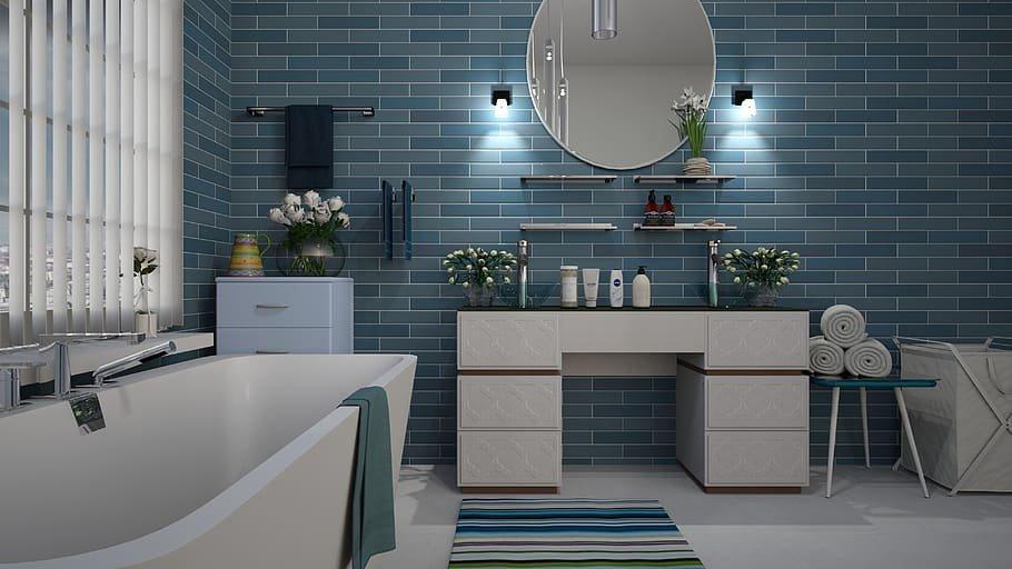 ديكورات منزلية باللون الأزرق