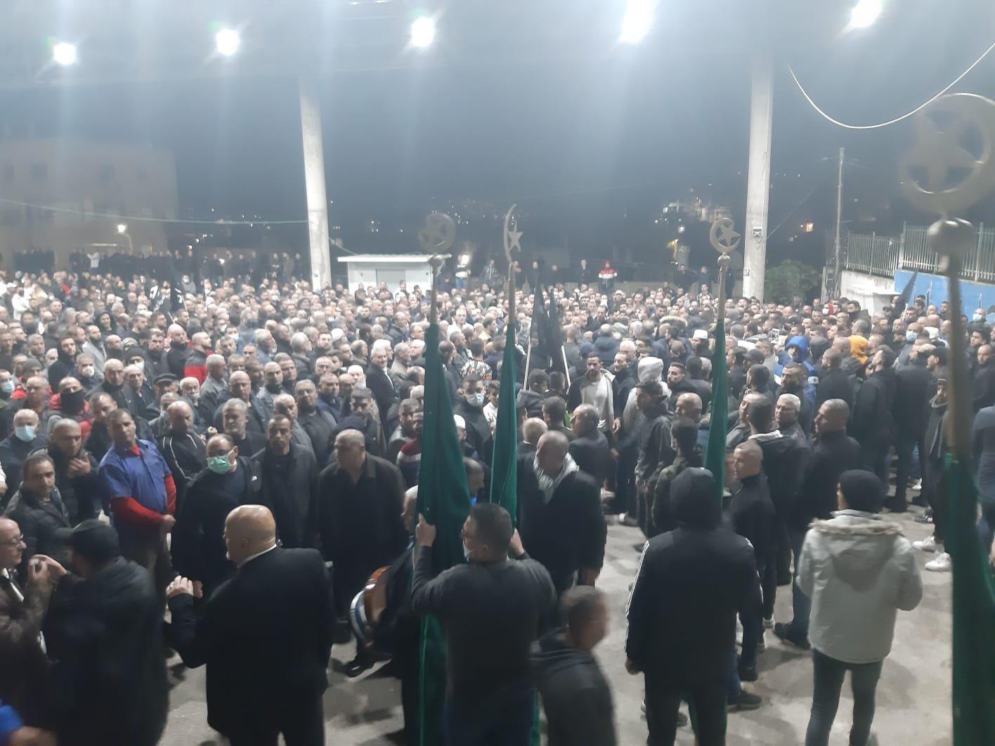 دير الأسد تشيع جثامين الضحايا-3