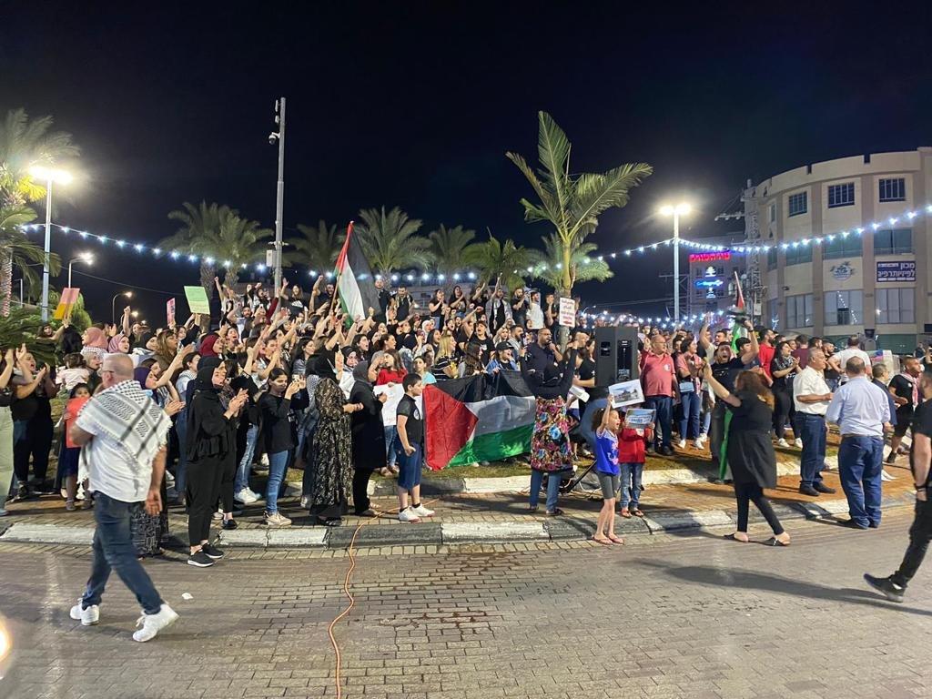 رغم سقوط الصواريخ في محيطها:الكطيرة تتضامن مع القدس-5