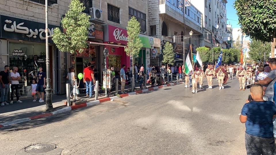 رام الله تحتفل بعيد الأضحى في مسيرة كشفية
