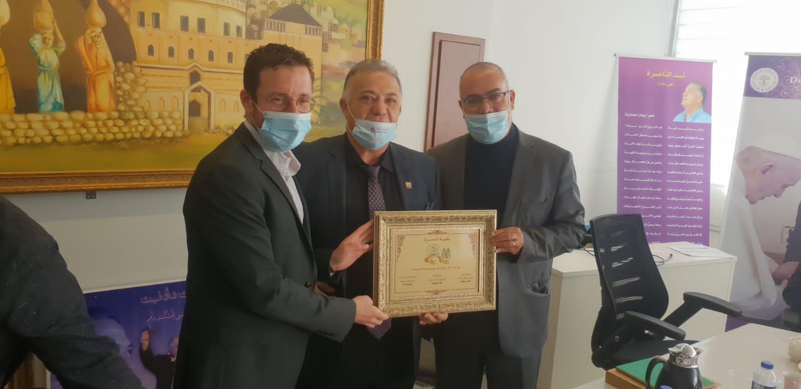 وزير العمل والرفاه الاجتماعي يزور بلدية الناصرة-2