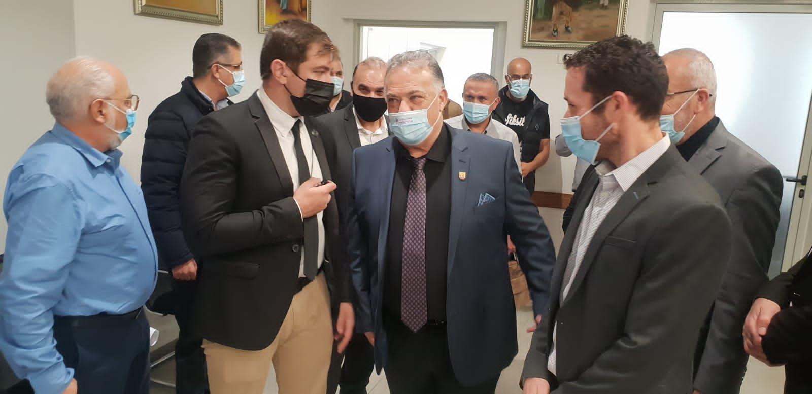 وزير العمل والرفاه الاجتماعي يزور بلدية الناصرة-3