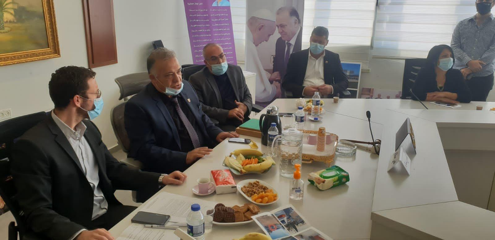 وزير العمل والرفاه الاجتماعي يزور بلدية الناصرة-7