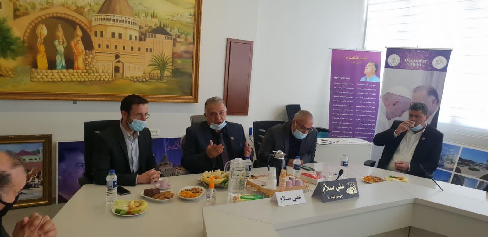 وزير العمل والرفاه الاجتماعي يزور بلدية الناصرة-12