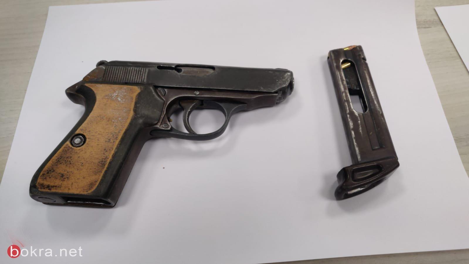 طمرة: ضبط مسدس وذخيرة في احد البيوت واعتقال مشتبه-1