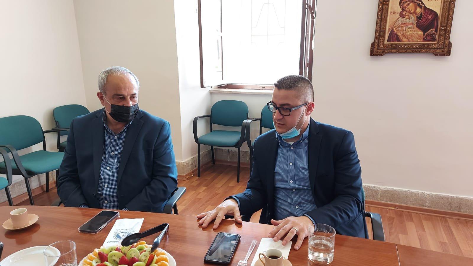 """قيادة حزب """"معا لعهد جديد"""" تزور المستشفى الفرنسي في الناصرة-4"""