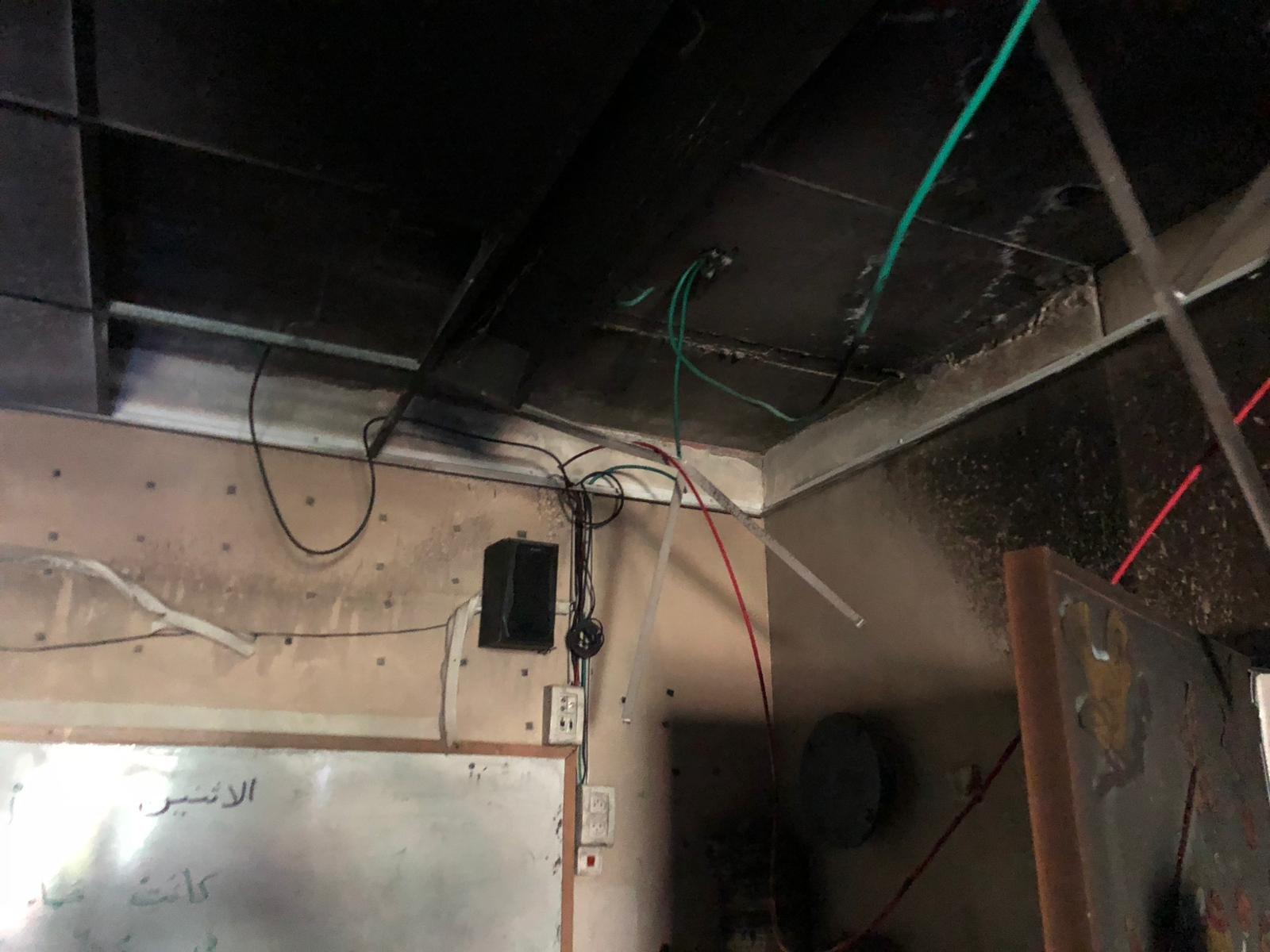 حريق في مدرسة سولم الابتدائية .. وبلطف الله لم تقع كارثة