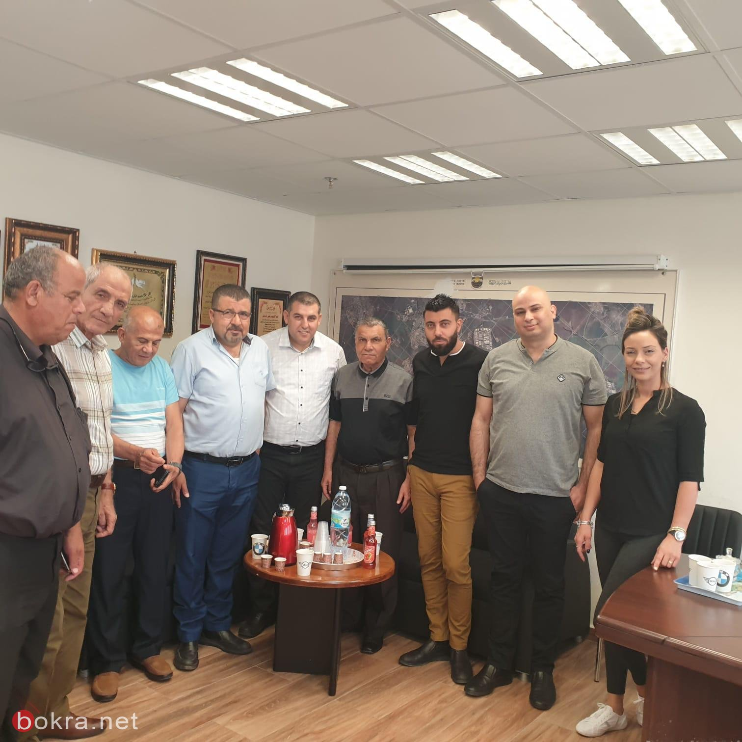 بستان المرج : مدير التأمين الوطني حسام ابو بكر فرع العفولة والمروج يزور المجلس لجلسة عمل.