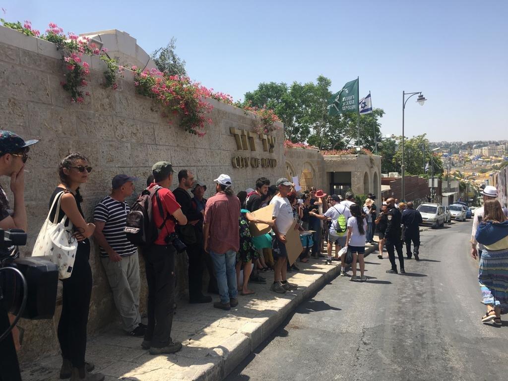 تظاهرة في سلوان ضد الاستيطان والسيطرة على المنازل الفلسطينية
