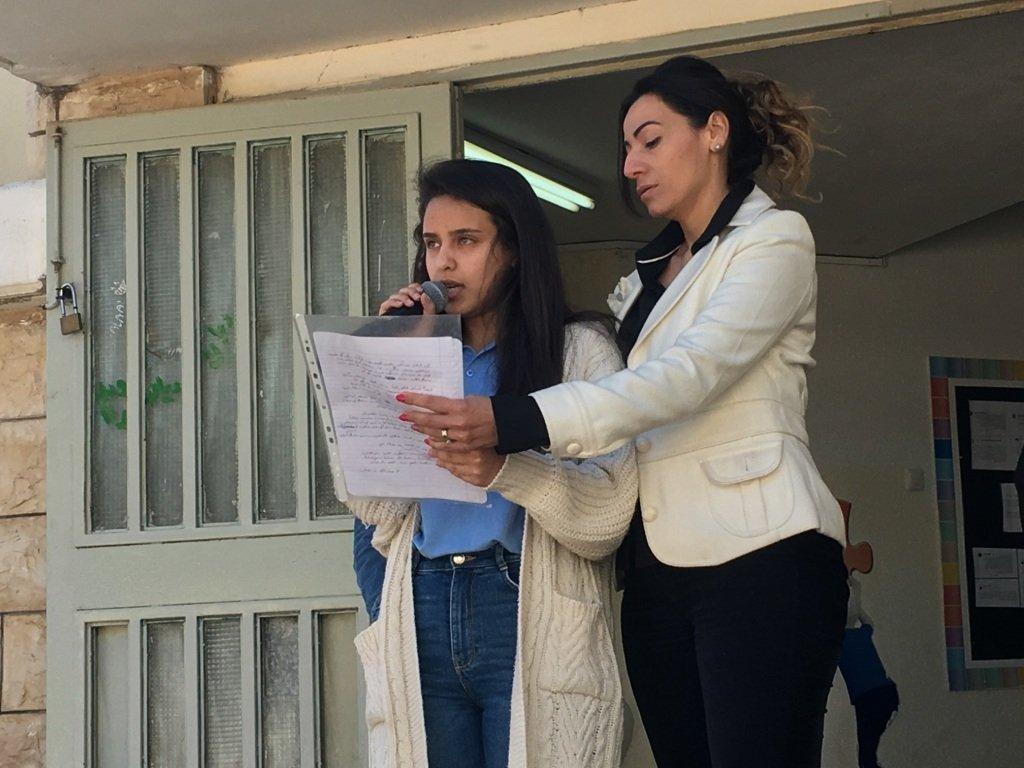برنامج خاص في وداع المدير والمربي د. عفو خليلية بمدرسة يافة الناصرة الثانوية