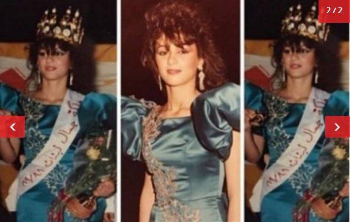 كوليت الحلاني يوم تتويجها ملكة جمال لبنان منذ 31 عاماً.. شاهدوا جمالها