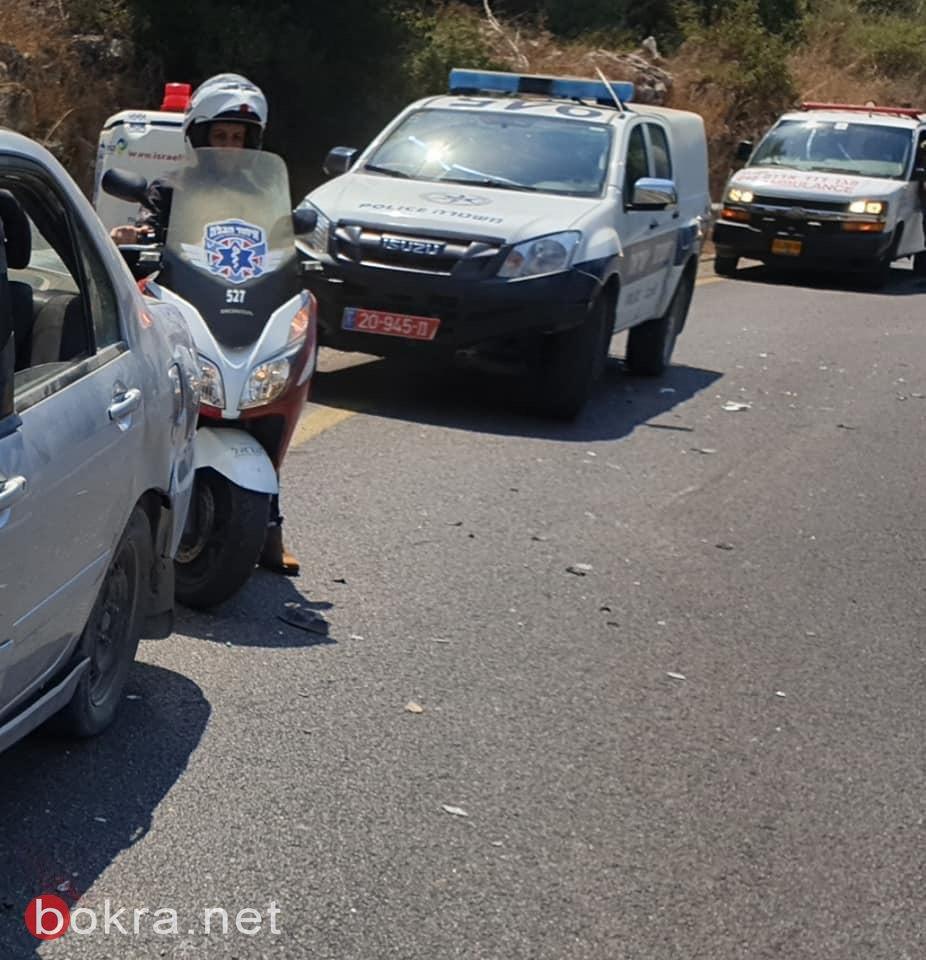 اصابة خمسة أشخاص في حادث طرق قرب ام الفحم