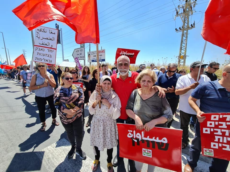 تظاهرة عربية يهودية في المثلث الجنوبي تحت عنوان- نوقف الحرب فورًا-6